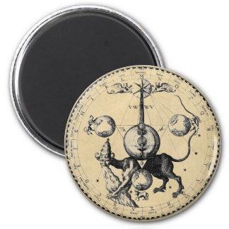 Kabbalah Mandala 2 Inch Round Magnet