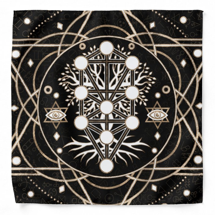 Kabbalah The Tree Of Life Sacred Geometry Ornament Bandana Zazzle Com Sephiroth tree of life occult kabbalah silvertone astrological pendant chain necklace. kabbalah the tree of life sacred geometry ornament bandana zazzle com