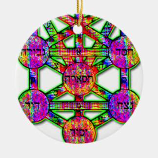 Kabbalistic Tree of Life Ceramic Ornament