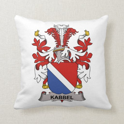Kabbel Family Crest Throw Pillow