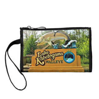 Kabetogama Lake Walleye Key Coin Clutch Purse