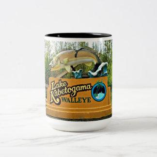 Kabetogama Lake Walleye Two-Tone Mug