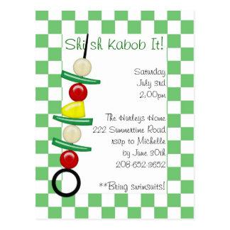 Kabob de Shish él invitación Postal