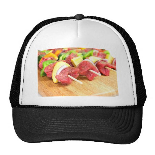 Kabob del filete gorro
