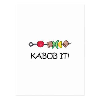 ¡Kabob él! Postal