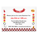 Kabobs and Barbecue 5x7 Paper Invitation Card