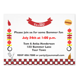 Kabobs and Barbecue Card