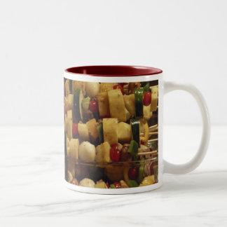 kabobs kebob, kabobs kebob Two-Tone coffee mug