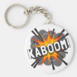 KABOOM! BASIC ROUND BUTTON KEYCHAIN