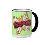 Kaboom! cartoon effect ringer coffee mug