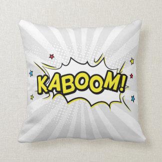 Kaboom Comic Book Throw Pillow