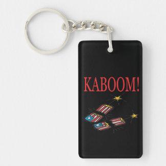 Kaboom Double-Sided Rectangular Acrylic Keychain