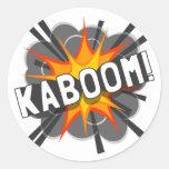 ¡KABOOM! ETIQUETA REDONDA