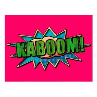 ¡KABOOM! onomatopeya del cómic Tarjetas Postales