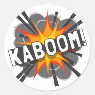 ¡KABOOM! PEGATINA REDONDA