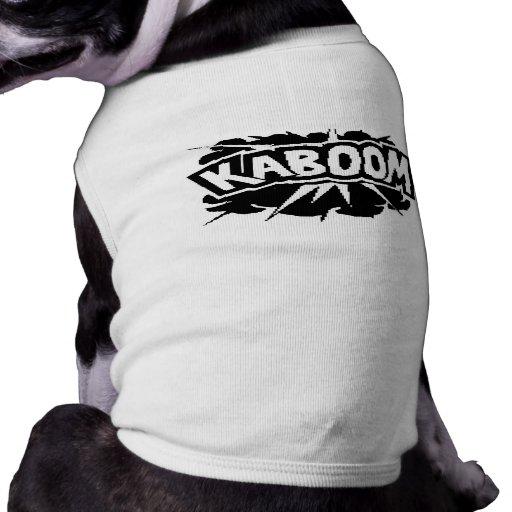 ¡KABOOM retro! Ráfaga - negro y blanco Camisas De Mascota