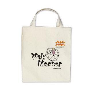KaBOOM! Web Master Canvas Bags