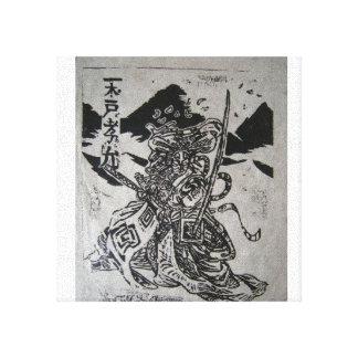 Kabuki Actor on Canvas