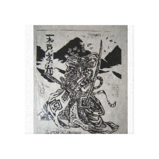Kabuki Actor on Canvas Gallery Wrapped Canvas