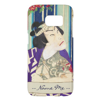 Kabuki Actor Portrait Waterfall Toyohara Kunichika Samsung Galaxy S7 Case