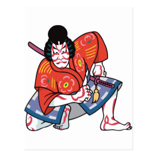 Kabuki mask postcards zazzle for Kabuki mask template