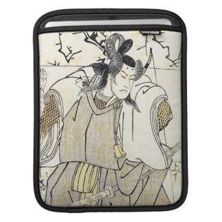 Kabuki Actor Samurai with Katana and Bow Shunsho Sleeve For iPads