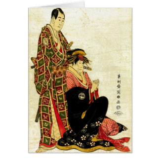 Kabuki Actors 1794 Greeting Card