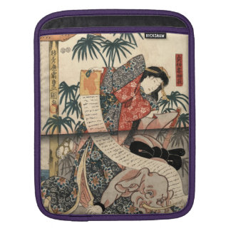 Kabuki Actors Triptych 1847 iPad Sleeve
