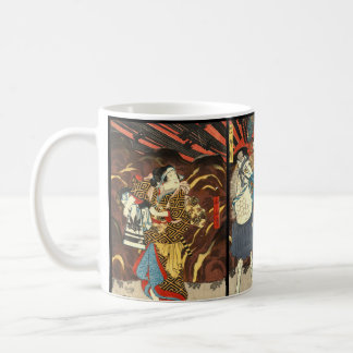 Kabuki Actors Triptych 1848 Coffee Mug