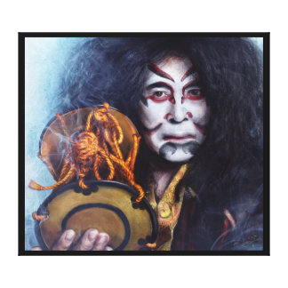 Kabuki Drummer canvas Canvas Print