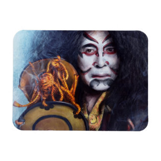 Kabuki Drummer oriental japanese magnet