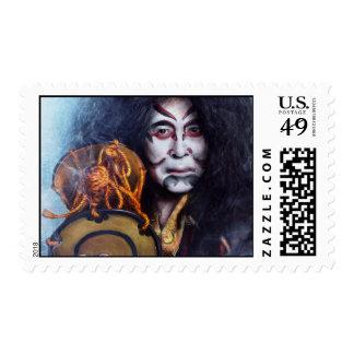 Kabuki Drummer oriental Japanese stamp