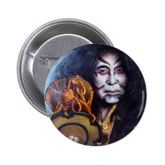 Kabuki Drummer round button