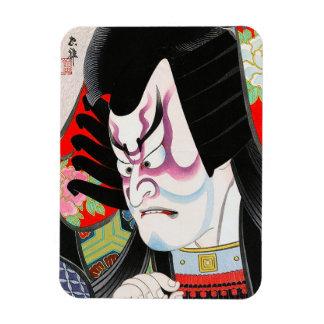Kabuki japonés oriental fresco del tadamasa del wo iman rectangular