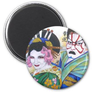 Kabuki Love 2 Inch Round Magnet