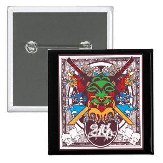 Kabuki Mask 2 Inch Square Button