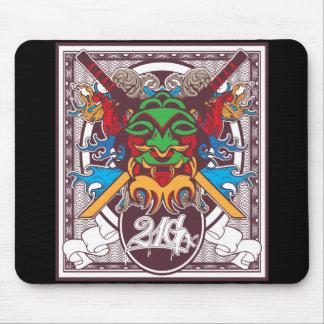 Kabuki Mask Mouse Pads