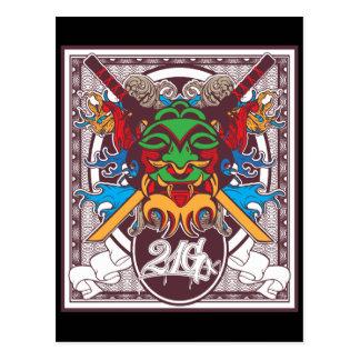 Kabuki Mask Post Card