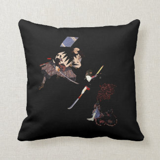 Kabuki Ronin Showdown Sukiyaki Samurai Ninja Throw Pillow