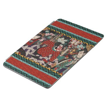 Beach Themed Kabuki Samurai Warriors Woodblock iPad Pro Cover