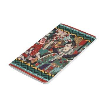Beach Themed Kabuki Samurai Warriors Woodblock Journal