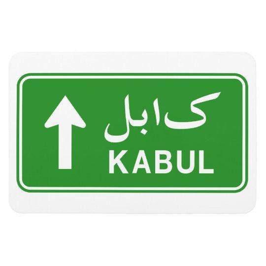 Kabul, Afghanistan Highway Traffic Street Sign Magnet