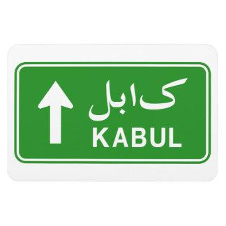 Kabul, Afghanistan Highway Traffic Street Sign Rectangular Photo Magnet