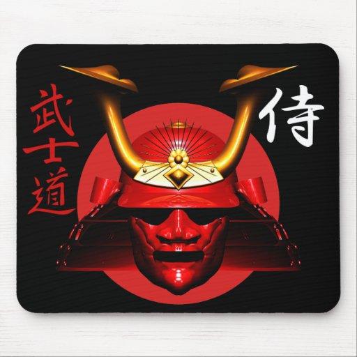 Kabuto rojo (casco del samurai) alfombrilla de raton