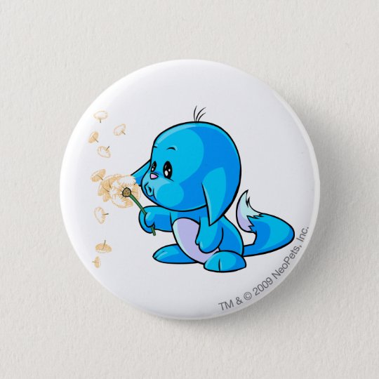 Kacheek Blue Pinback Button