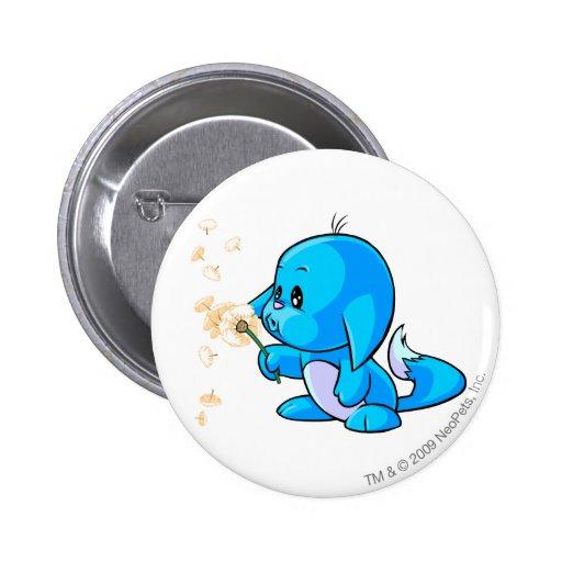 Kacheek Blue Pinback Button