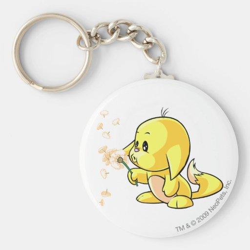 Kacheek Yellow Basic Round Button Keychain