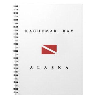 Kachemak Bay Alaska Scuba Dive Flag Notebooks