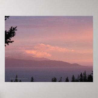 Kachemak Bay Sunset, Homer Alaska Poster