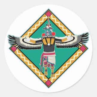 Kachina Dancer Classic Round Sticker